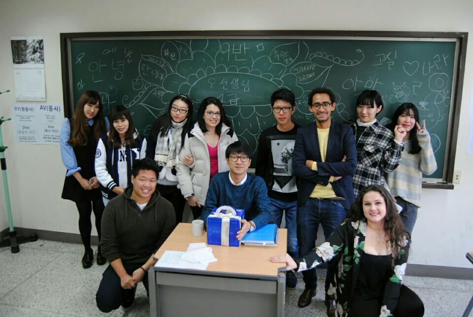 Classe de Coreano na Yonsei University