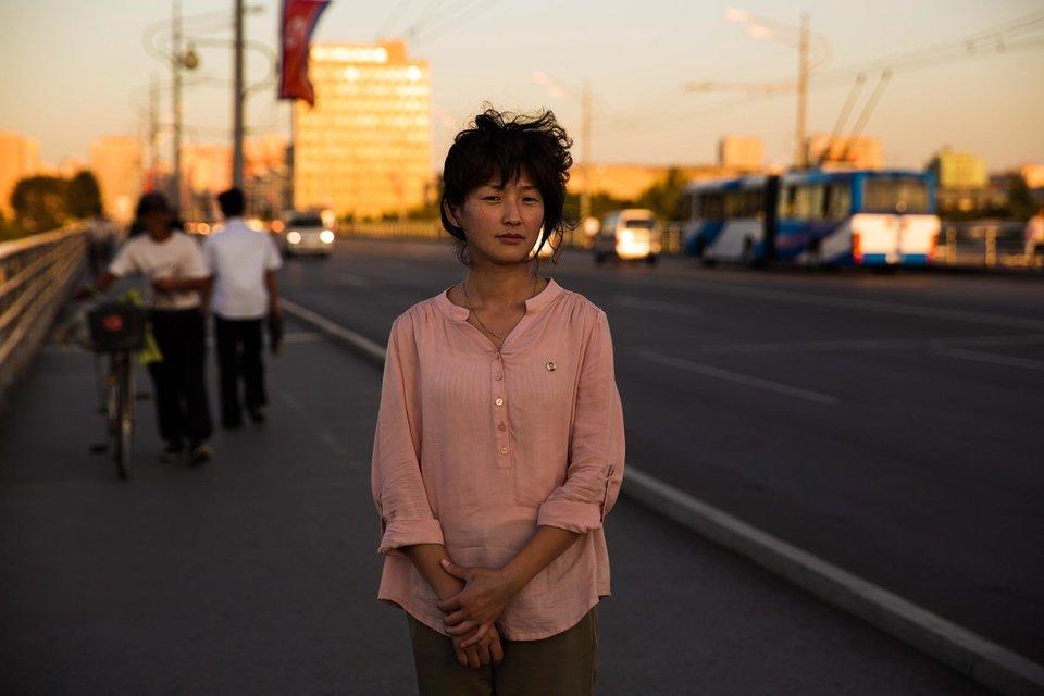 Em Pyongyang.