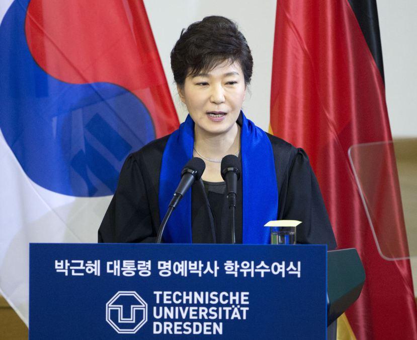 Discurso da presidente Park Geun-hye em Dresden, Alemanha 2014.