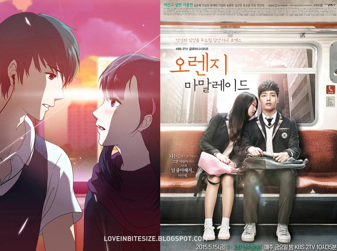 Comparação entre a webtoon e o drama.