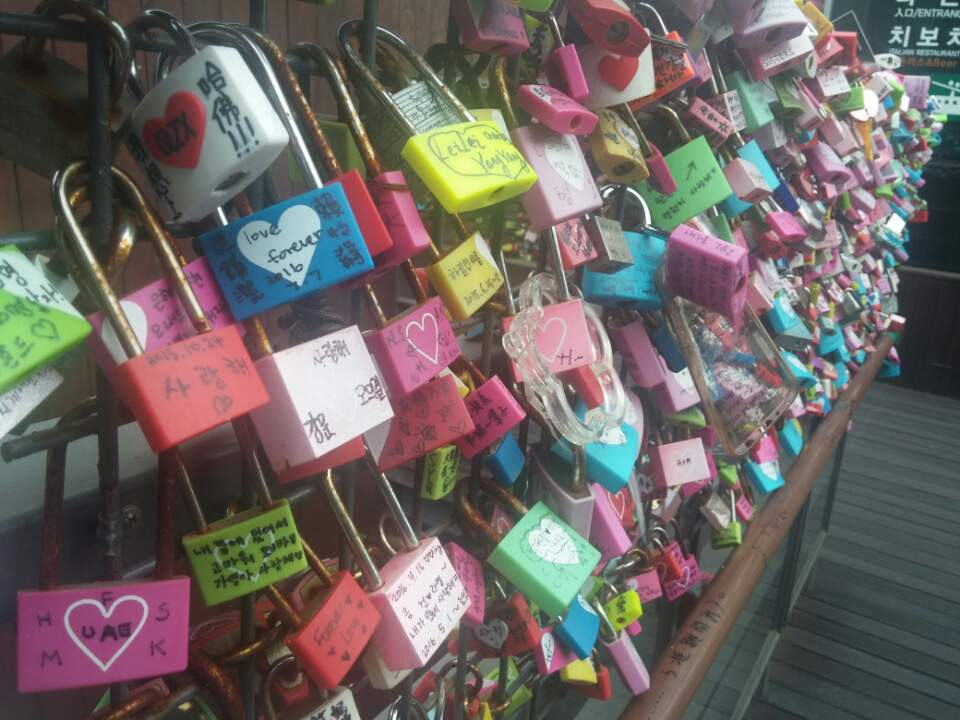 Cadeados na Namsan Tower.