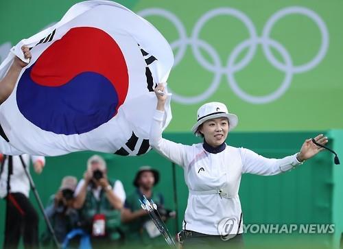A Arqueira Chang Hye-Jin. Foto: Yonhap News