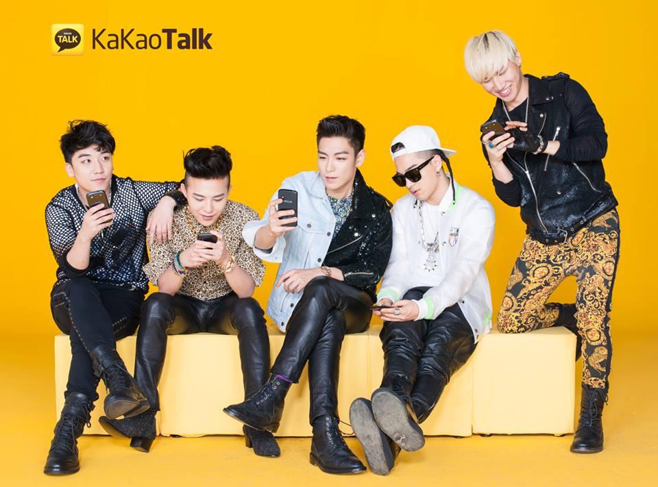 Big Bang. Os principais garotos-propaganda do Kakao Talk