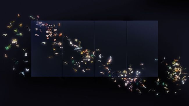 """Flutter of Butterflies Beyond Borders"" by teamLab, 2015 (teamLab)"