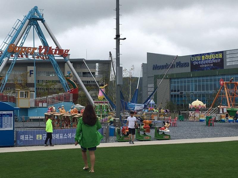 O parque de diversões...