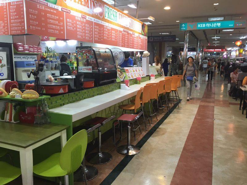 Praça de Alimentação no Metrô