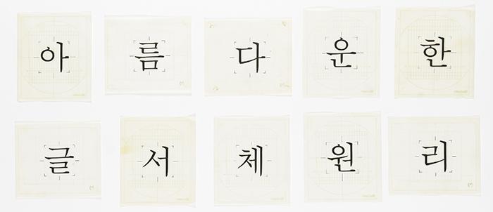 Jeong-Ho Choe criou a fonte Myeongjo (명조체) a pedido da companhia Morisawa com sede no Japão.