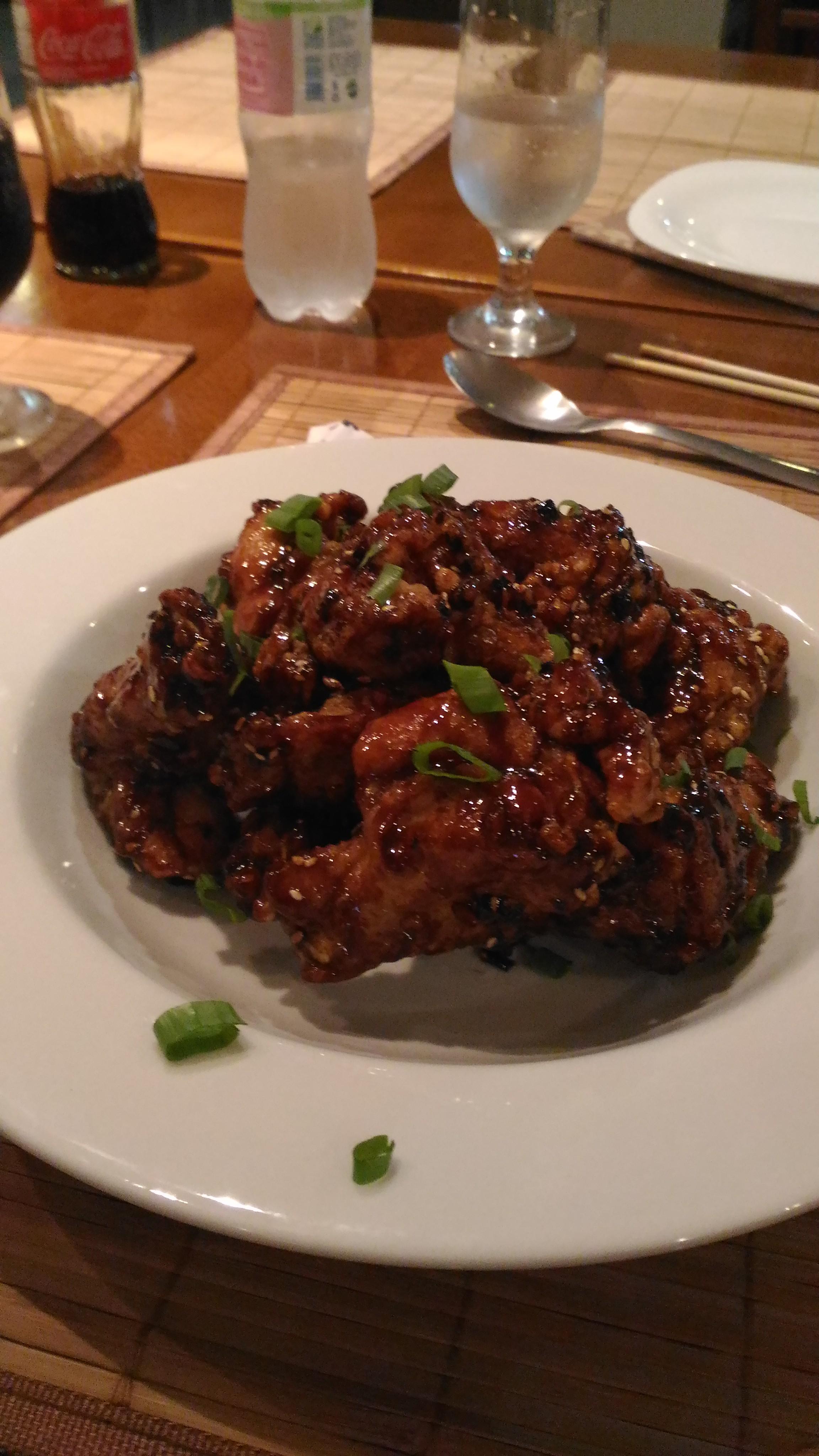 Dak-GangJeong. Frango frito crocante com agridoce.