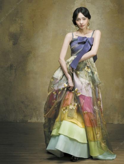 Hanbok moderno feito por um estilista.