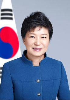 A presidente Geun-Hye park, a única líder mulher e solteira dos 11, parece não ter conseguido sair ilesa.