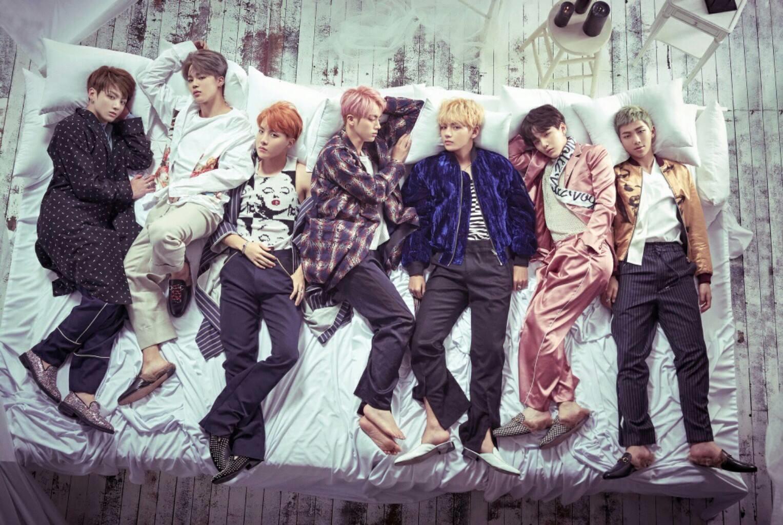 "Grupo BTS em foto conceitual para o álbum ""WINGS"". Foto: Big Hit Entertainment."