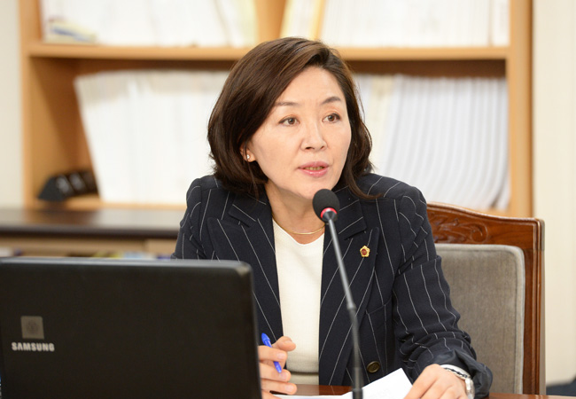 Lee Sun-hwa, membro do Conselho da Província Autônoma Especial de Jeju. Foto: Lee Sun-hwa/The Korea Times
