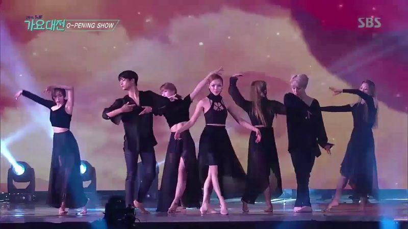 N do Vixx e Jimin do BTS em uma performance de dança contemporânea. Foto: Youtube