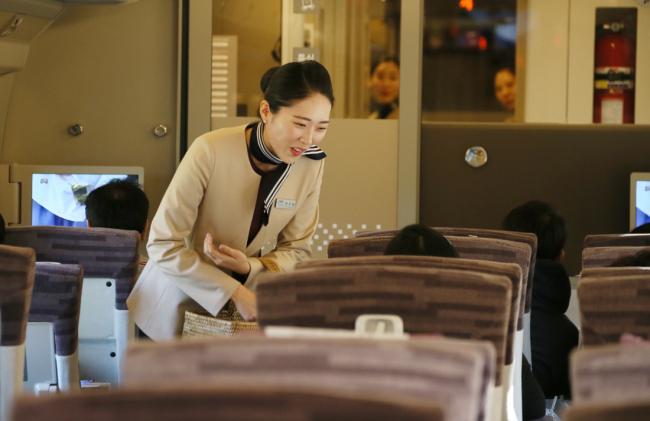 SRT visto de dentro. Foto: SR/Korea Herald