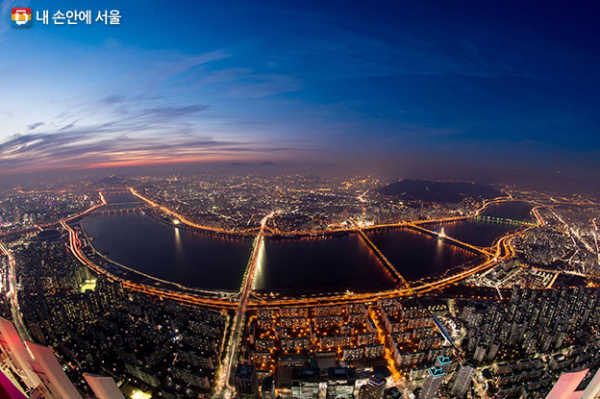 Vista do Rio Han. Via: Seoul Metropolitan Government