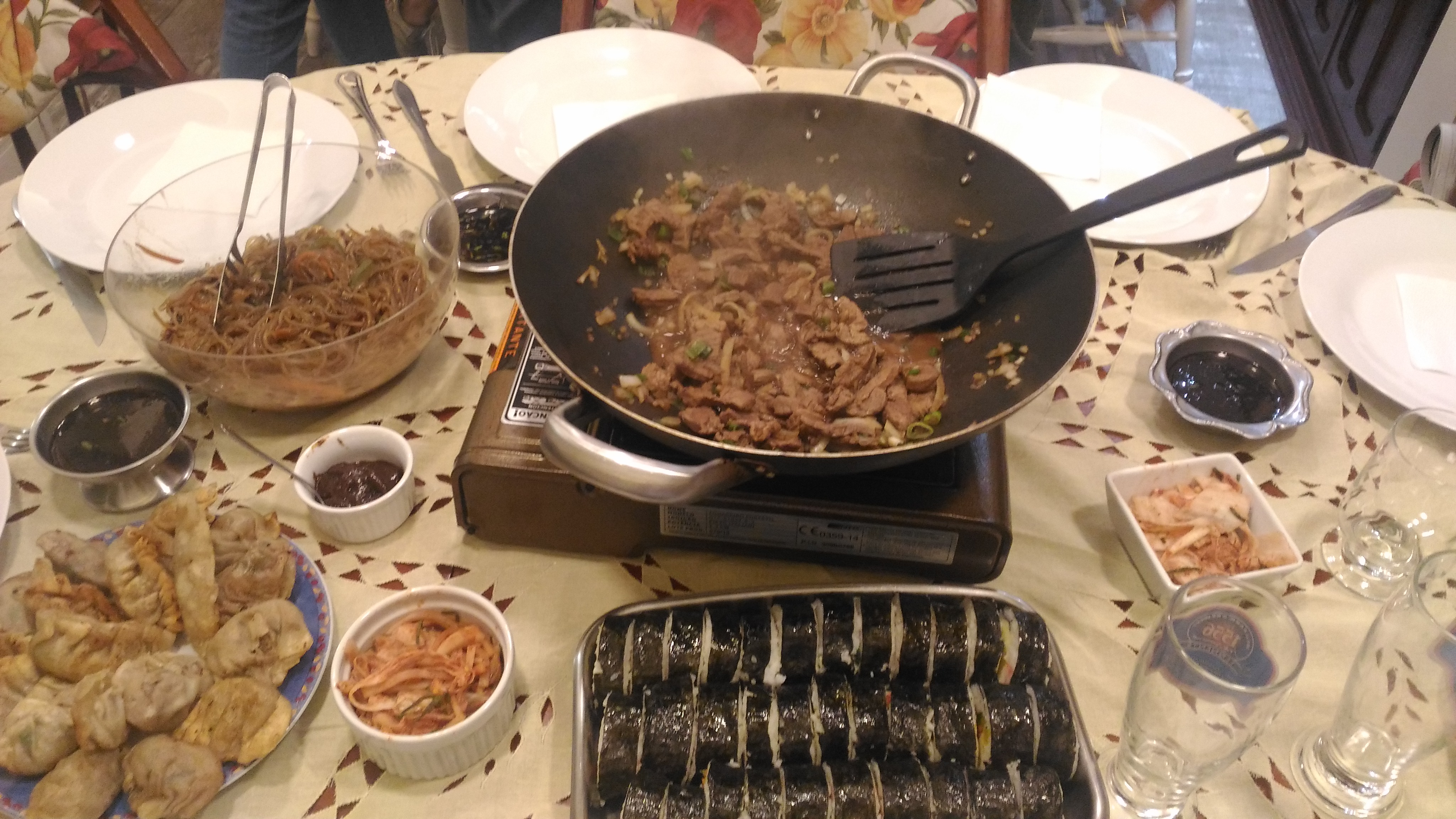 Este é o Bulgogi que o marido de uma colega do curso preparou na última janta da turma que fizemos.