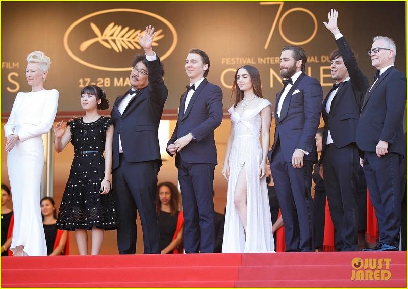 O Diretor Joon-Ho Bong E O Elenco Do Filme, No Festival De Cannes. Foto: Just Dared