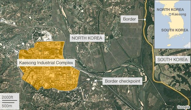 Entenda a localização de Kaesong. Foto: BBC