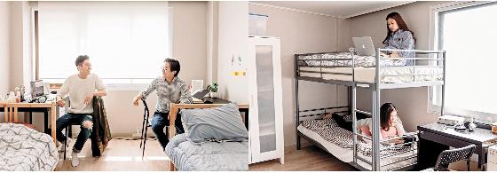 Pessoas solteiras morando juntas em uma residência compartilhada no Distrito de Gwanak, sul de Seul. Ocupada em grande parte por solteiros entre 20 e 30 anos, existem inúmeras casa compartilhadas surgindo pela cidade. [WOOJU]