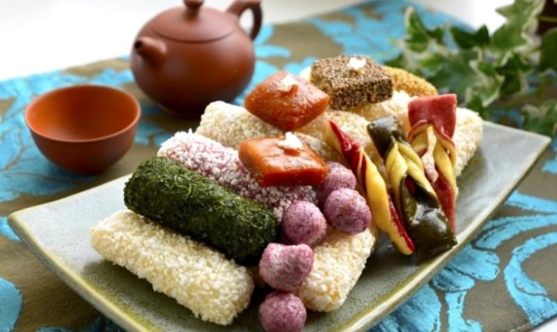 Doces tradicionais, Hangwa, geralmente oferecidos como presente. Foto: Diane Story