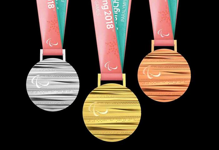 Medalhas de prata, ouro e bronze dos Jogos Paralímpicos de Inverno PyeongChang 2018. / Foto: Korea.net