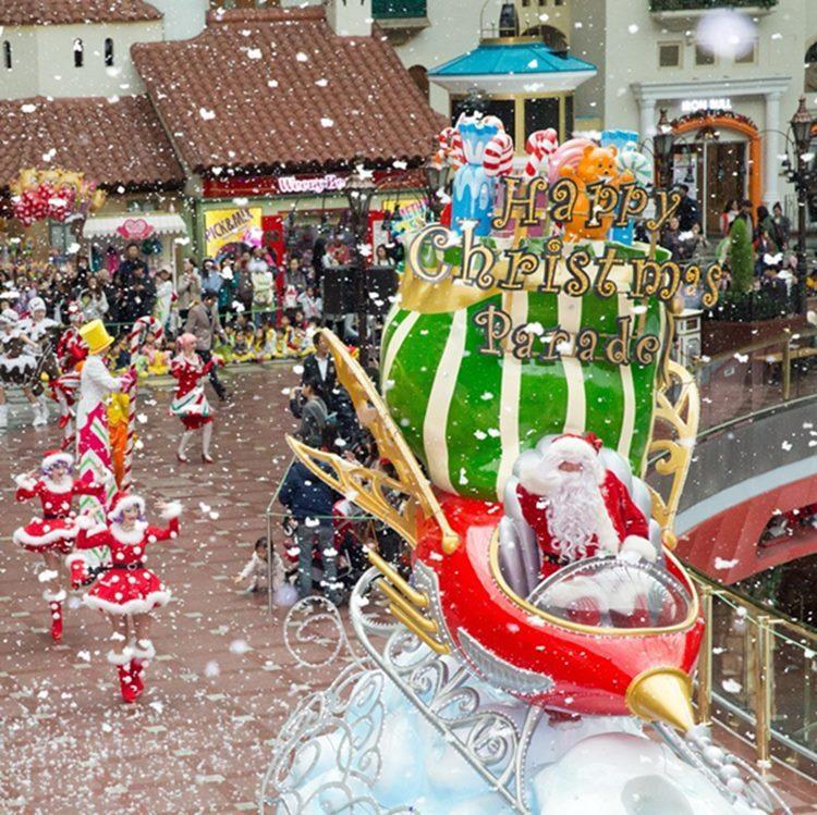 Desfile de natal durante o Christmas Miracle na Lotte World. Foto: HaB Korea