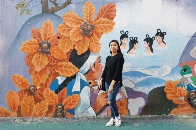 Ellaine Galvez em Seul em 2017. Imagem: The Korea Herald