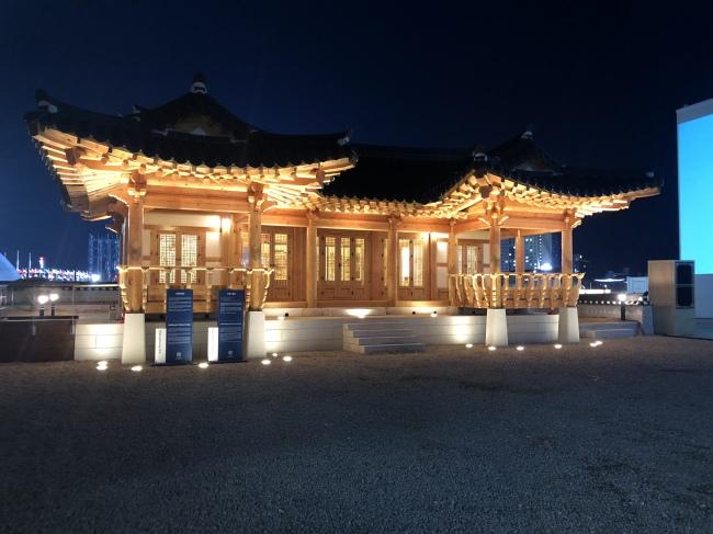 Pavilhão Tradicional Coreano no Pyeongchang Olympic Plaza. (Via: The Korea Herald / Park Ju-young)