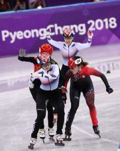 Choi Min-Jeong Cruza A Linha De Chegada. / Korea Times Foto De Shim Hyun-Chul