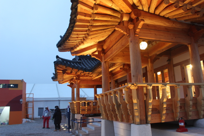Traditional Culture Pavilion & Traditional Culture Plaza in the PyeongChang Olympic Plaza in Daegwallyeong-myeon, Gangwon Province (Imagem: Yoon Min-sik/The Korea Herald)