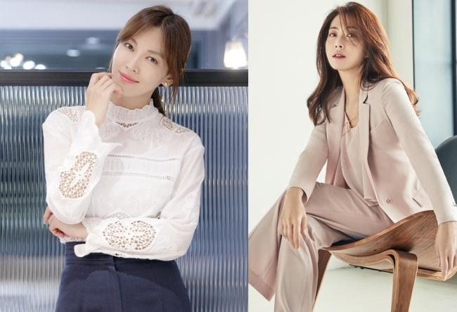 Atrizes Kim So-Yeon (J,Wide-Company) E Song Yoon-Ah (Snowball Entertainment). Imagem: The Korea Herald.