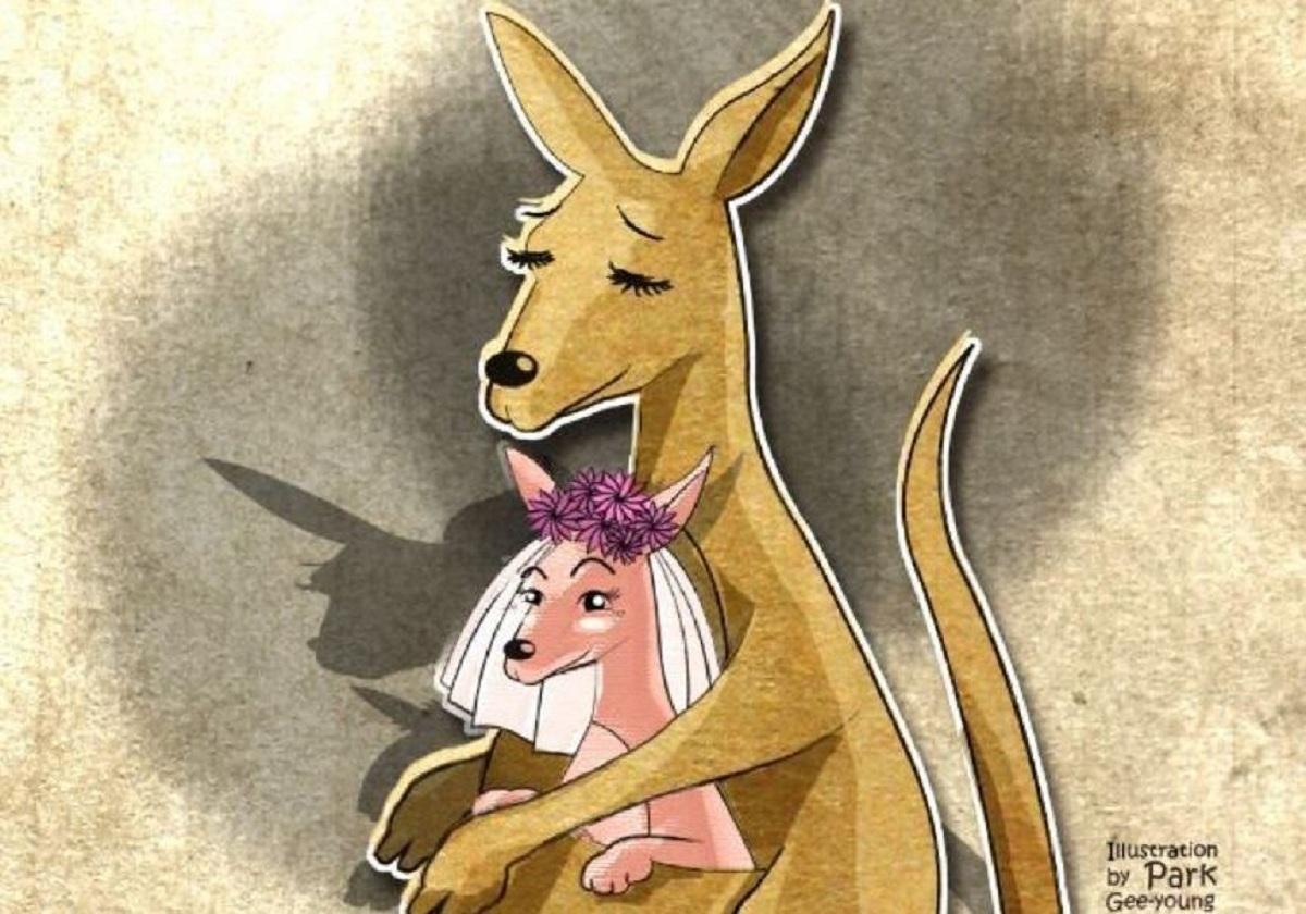 Ilustração de Park Gee-young.