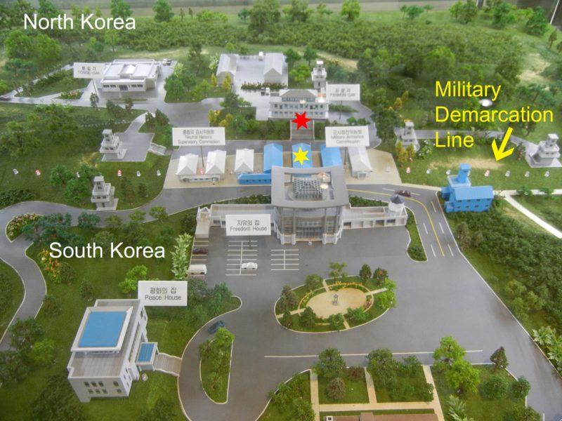 Vista aérea da DMZ. Foto: JNC Jewish News Channel