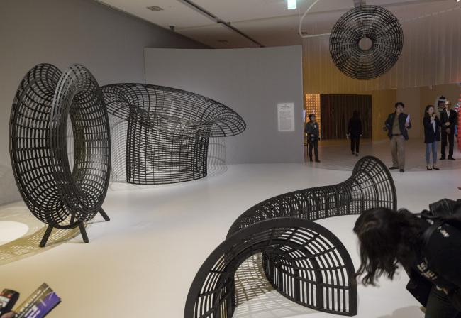 Instalações da exposição SoundXHangeul / Foto: Yonhap
