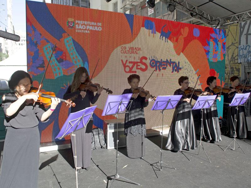 O Grupo de Violino também apresentou-se na Virada Oriental.