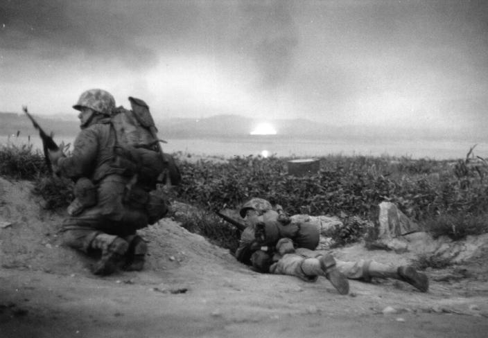 Fuzileiros Navais Dos Estados Unidos Em Incheon, Na Coreia Do Sul, Em 1950. Fonte: The New York Times