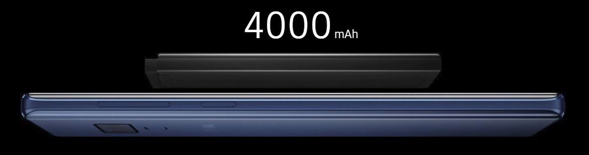 Bateria de 4000 mAh Fonte: [https://www.samsung.com/br/smartphones/galaxy-note9/]