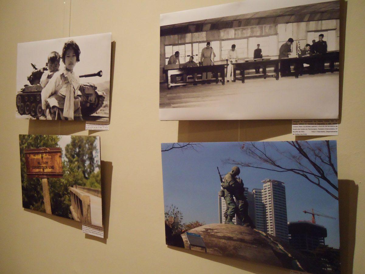 Exposição de fotos relatou as histórias reais das famílias separadas pela guerra. Foto: Alessandra Scangarelli.