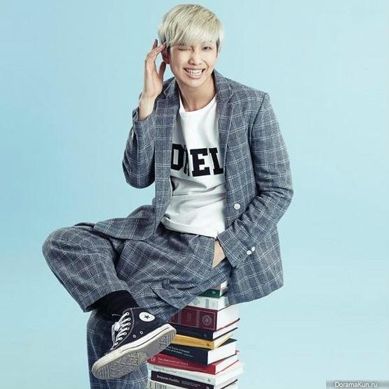 O integrante Rap Monster, do BTS é declaradamente um apaixonado por livros. Foto: doramakun.ru