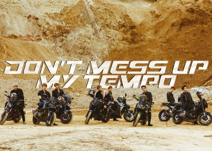 "Capa do próximo álbum do EXO, ""Don´t Mess Up My Tempo"". (imagem: SM Entertainment)"