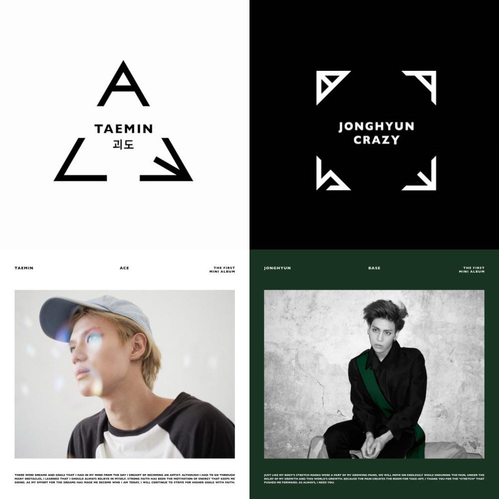 Ace Primeiro Mini Álbum de Taemin e Base - Primeiro Mini Álbum de Jonghyun. Foto: SM Entertainment
