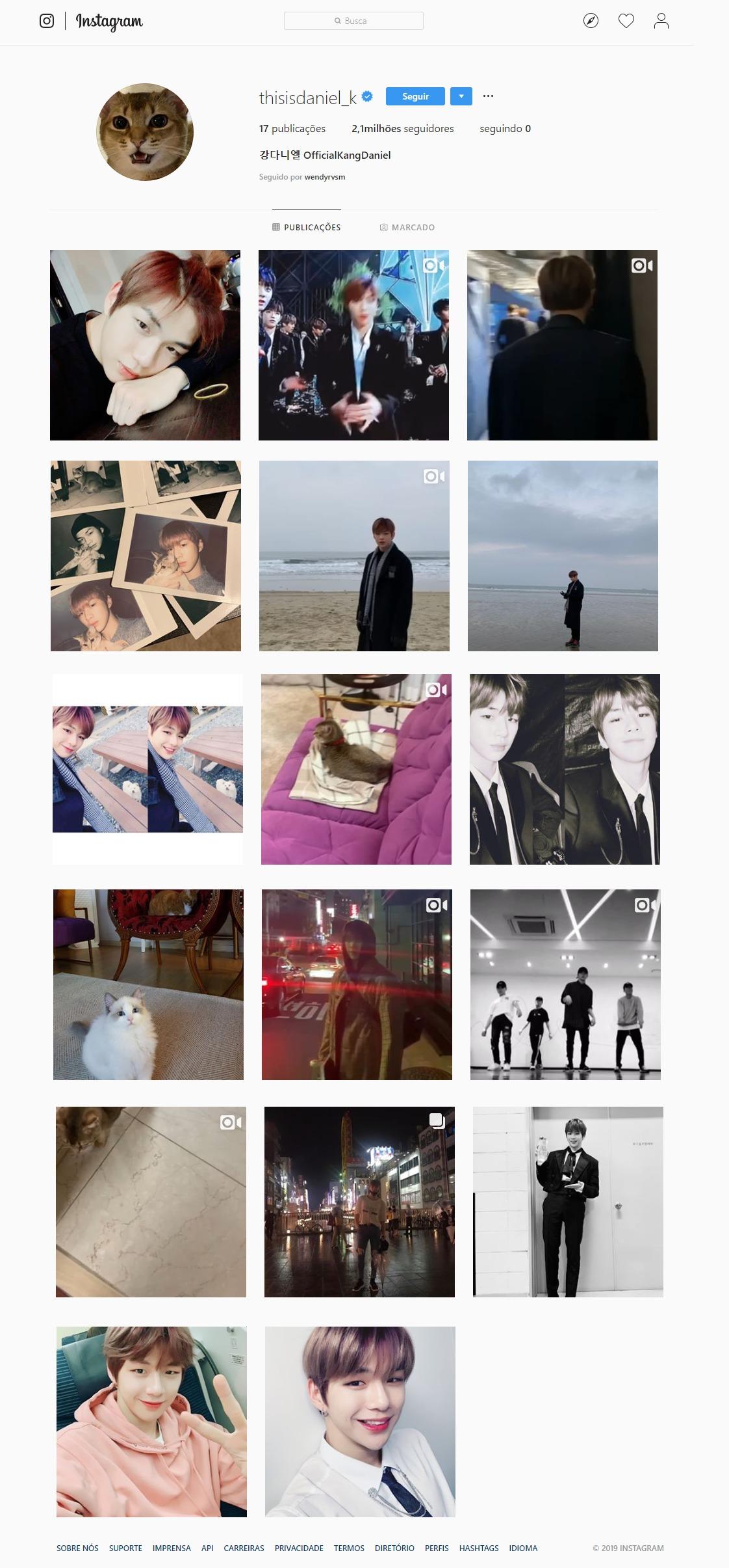 Kang Daniel Ganha Mais De 1 Milhão De Seguidores No Instagram Em Menos De Um Dia
