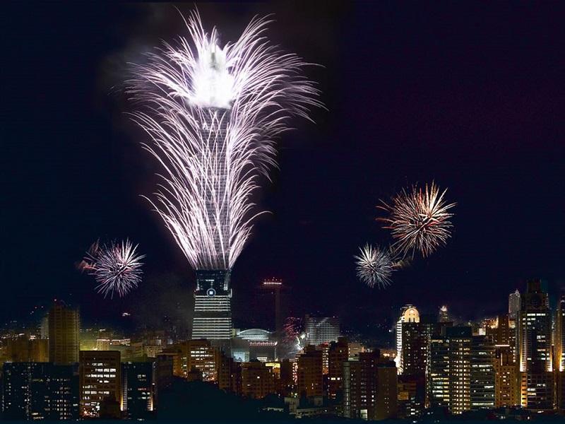 Lotte Tower Faz Queima De Fogos Pela Paz Na Península Coreana