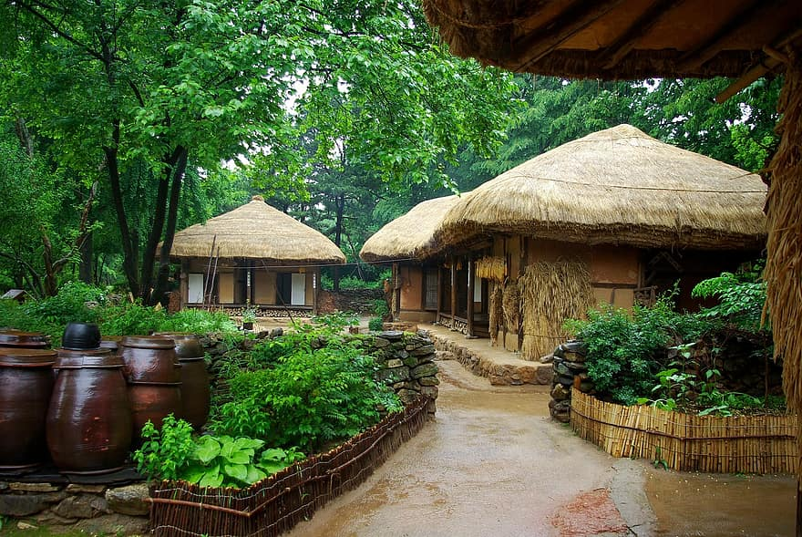 Casas Da Vila Tradicional De Yongin. Fonte: Pinkist